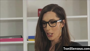 Trans Boss orders worker to fuck her ass