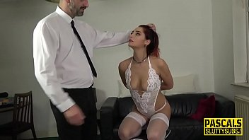 Ass paddled fetish sub gets tits whipped
