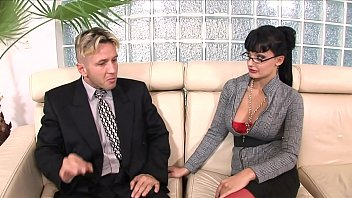 All three holes on perfect lingerie wearing whore Aletta Ocean get drilled with big dick thumbnail
