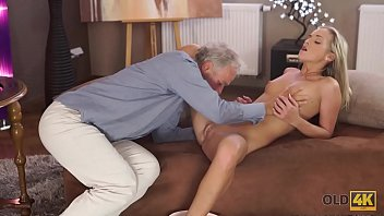 OLD4K. Kind teacher is happy to spend sexy time with his student