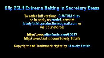 Clip 26Lil Extreme Belting in Secretary Dress - Full Version Sale: $8 thumbnail