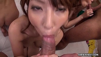 Japanese babes, Hikari and Kaede Niiyama had group sex, uncensored