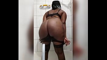 Naejae backs her Big ass up on her dildo in Wet shower