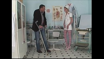 Nurse handjob head Patient surprised nurse in masturbation with giant dildo and fucks her hard