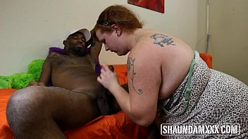 BBW Scarlett Raven Sucks the Black Anaconda