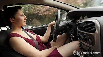Hot Jenny Orgasming While Driving