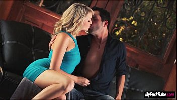 Mia Malkova has passionate sex with her love on the couch
