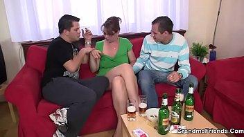Threesome with mature boozed woman - 69VClub.Com