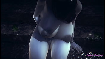 Resident Evil Hentai 3D - Lady Dimitresku Fingering And Squirting In A Raining Day - Japanese Manga Anime Cartoon Game Porn