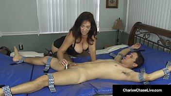 Hot Milf Charlee Chase Binds Tickles Sucks & Fucks A Dude! Image
