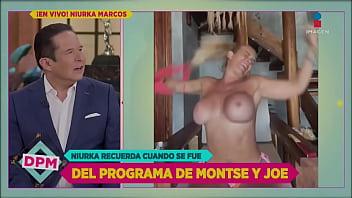 Niurka show tits on tv