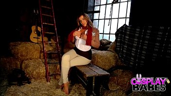 Cosplay Babes Busty Mikasa Cums In The Barn