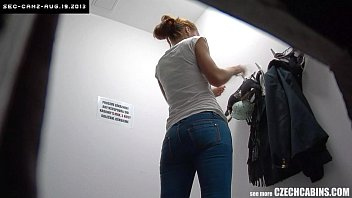 Security camera nudes Beautiful girl wearing clothes in store