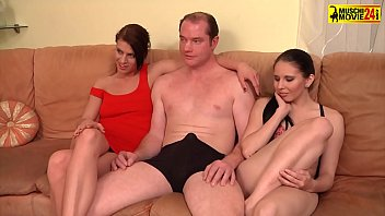 Two Hot Sluts Shared One Dick In The Threesome