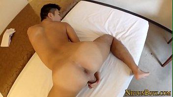 Japanese guy masturbates