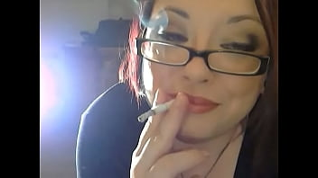 BBW Domme Tina Snua Chain Smoking 3 Vogue Slim Cigarettes With Nose Exhales & Dangling