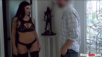 Son was at the right place at the right time- Gets lucky with BUSTY Mother porn image