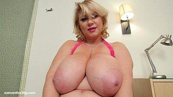 Busty BBW MILF Samantha 38G Drills Her Pussy With Dildo 4分钟