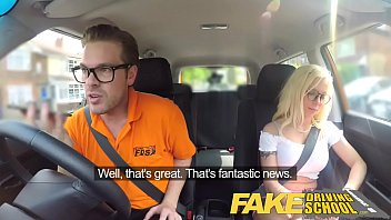Fake Driving School Stunning blonde gets deep internal creampie on first lesson