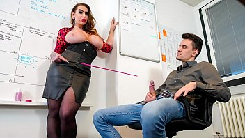 Nina las Vegas has a huge boobs and has sex at the office