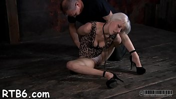 Tormenting babe's cookie with toy