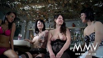 Four mature women - Public lesbian orgy at the pub