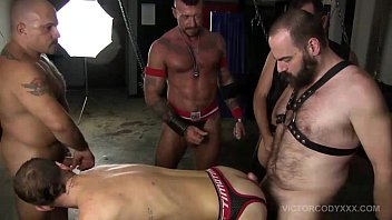Gay leather lifestyle Pig week sling fucking raw sex orgy
