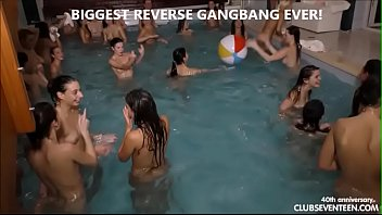 Biggest reverse gangbang ever!!!! preview image