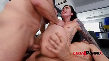 Marley Brinx Gets Wrecked in the Ass and Pussy By Two Cocks At The Same Time