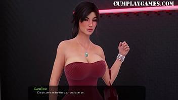 Milfy City Caroline Part 13 Hotel Sex – ASMR – Cumplay Games
