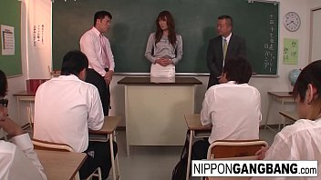 Hot Japanese teacher is punished in front of her students thumbnail