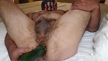 I am indeed of a real cock, but will take what I can get. Here is a video of me and a cucumber.