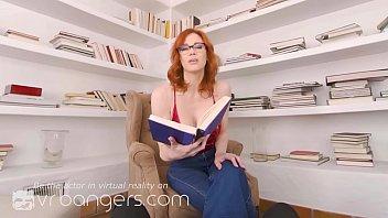 VR BANGERS Redhead teacher Maitland Ward is getting horny