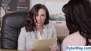 Job interview lesbian fucking 6 min