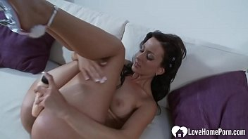 Sexy chick penetrates herself with a dildo