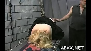 Bizarre thraldom video with cutie obeying the dirty play