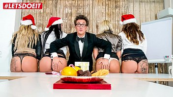 LETSDOEIT - Hot Office Christmas Fuck Fest With German MILFs - Part 1