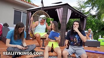 (Ricky Spanish) Fucks Sally Dangelos Mature Pussy By The Pool - RealityKings