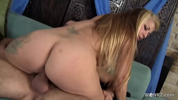 MILF with big tits gets her hairy pussy fucked