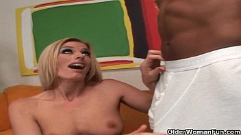 Blonde soccer milf trashed by huge cock
