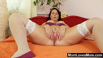 Very sexy natural big tits milf Lexa dildo action preview image