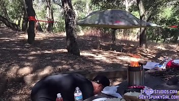 Fucking & Facial In A Tent While Camping In The Woods