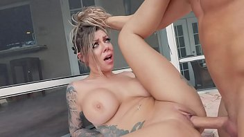 Karma RX Shows Off Big Tits In Red Bikini, Gets Her Pussy Smashed By Derrick Ferrari