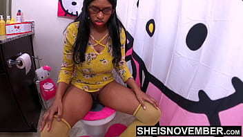 4k Innocent Black DaughterInLaw Sheisnovember Debauched Erotic Reverse Cowgirl Sex With Fatherinlaw On Toilet, Giant Large Breasts and Pretty Nipples Shaking While Screaming From Pleasure and Pain, Fauxcest Fucking  by Msnovember 7 min