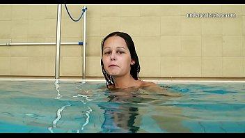 Super hot Hungarian teen underwater Nata Silva