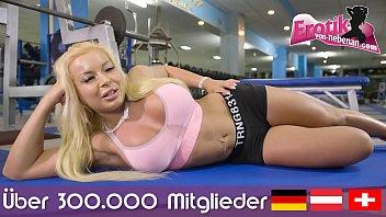 Deutsches brünettes Model mit dicken titten macht einen privaten porno und bekommt sperma