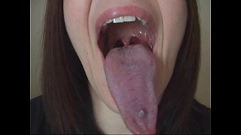Long Tongue Lesbian Kiss