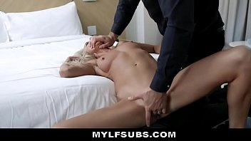 Complimentary MILF Welcum Gift Submits To Rough Treatment