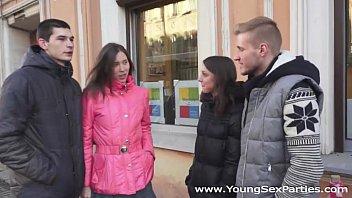 Young Sex Parties - Teens Foxy Di and Ananta Shakti share boyfriends' dicks