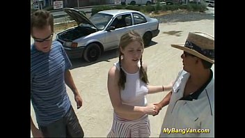 Cute Teens First Gangbang In My Bangvan